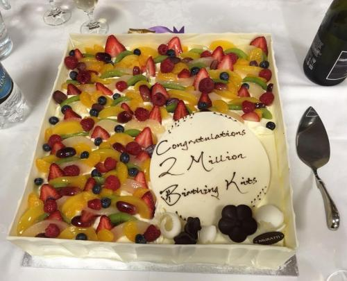BKFA-cake to celebrate 2,000,000 kit!
